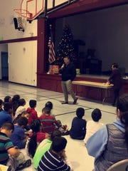Scott Davis visited the Dr. Oscar F. Loya Elementary School in December