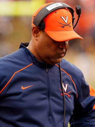 Virginia Cavaliers head coach Mike London.