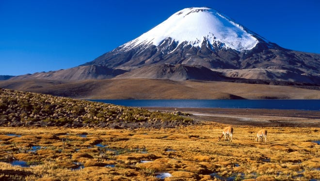 Chungara Lake and a nearby volcano in Chile are among the sites that passengers will have a chance to see on a Silversea cruise in 2018.