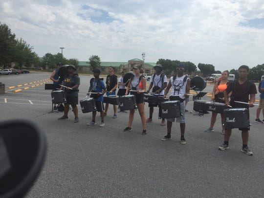 the 2017-2018 Battery Line and Front Ensemble