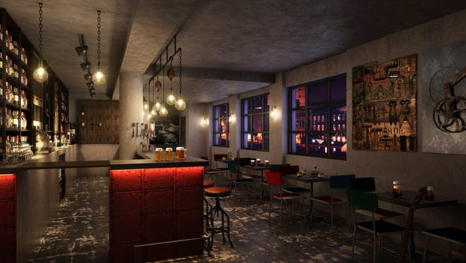 Bobby Garage bar opens this spring at the upcoming Bobby boutique hotel.