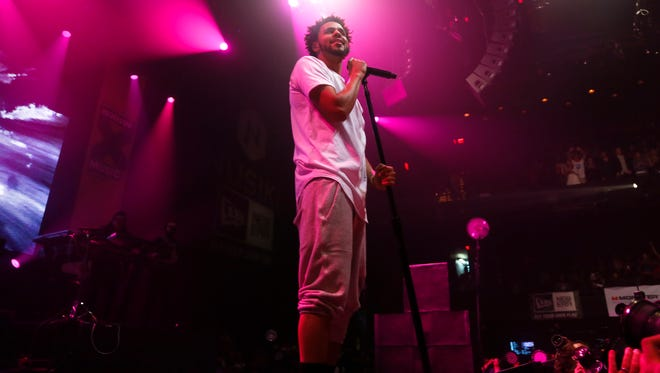 J. Cole performs at the ACL Moody Theater during the SXSW Music Festival on Saturday, March 21, 2015, in Austin, Texas.