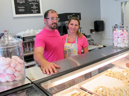 Russ Underwood and Marina Nikolic co-own Angelic Desserts bakery and cafe that recently opened in the Galleria Shoppes at Vanderbilt on the northwest corner of Airport-Pulling and Vanderbilt Beach roads in North Naples.