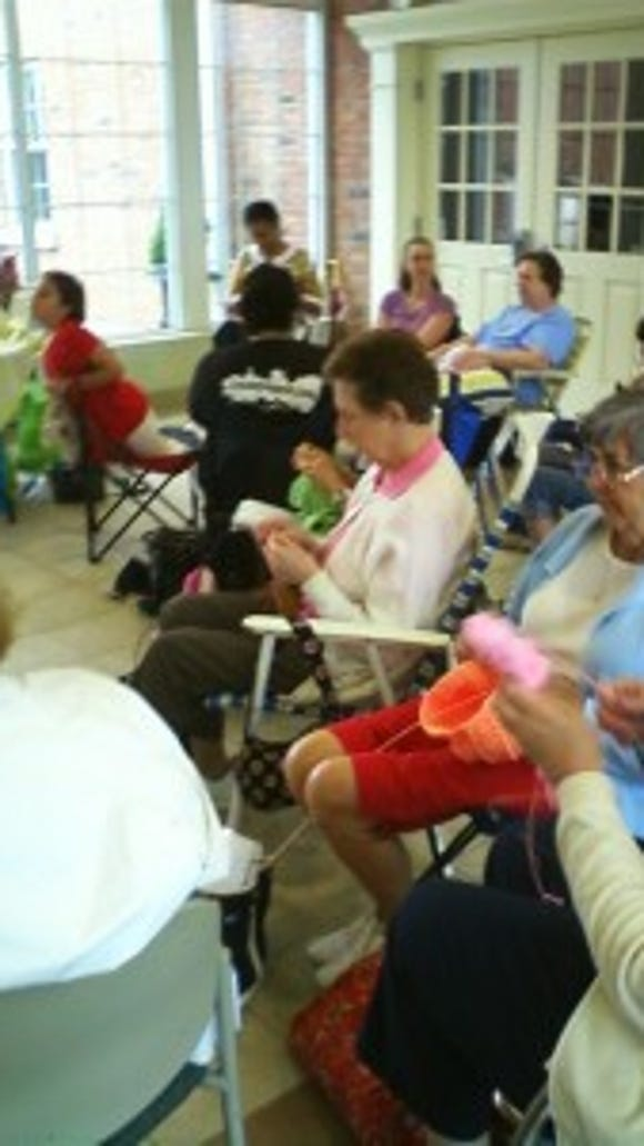 The Gates Avenue Knitters have held Knitting in Public Day events at the Long Hill Township Library in Gillette for many years.