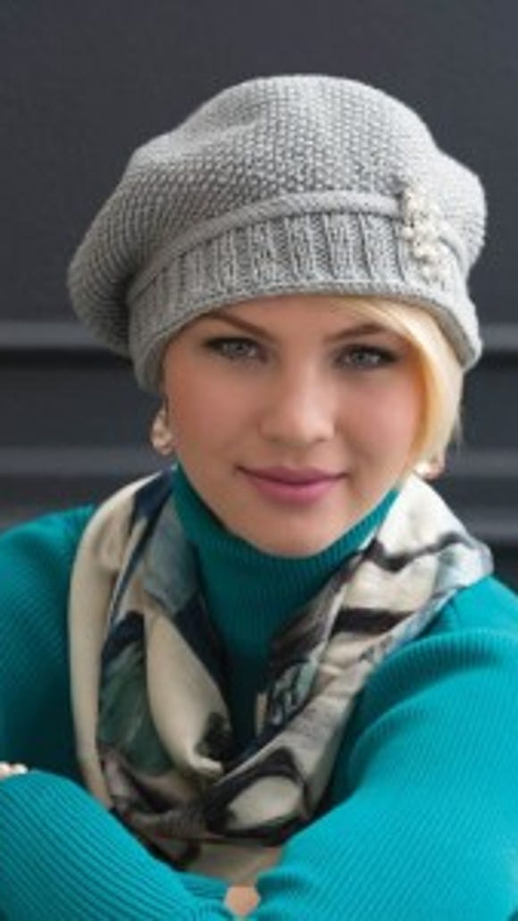 """This photo of the Slouchy Seed-Stitch Hat is from the book, """"60 Quick Luxury Knits"""" from Sixth & Spring Books."""