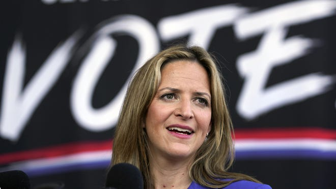 In this Sept. 24, 2020, file photo, Michigan Secretary of State Jocelyn Benson speaks in Detroit. More than 5.5 million people voted in Michigan's presidential election -- the most ever and the highest percentage of voting-age residents to cast a ballot in 60 years.