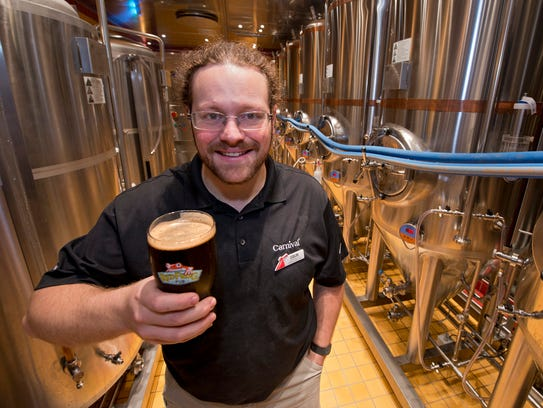 Colin Presby brews three kinds of beer at the on-ship
