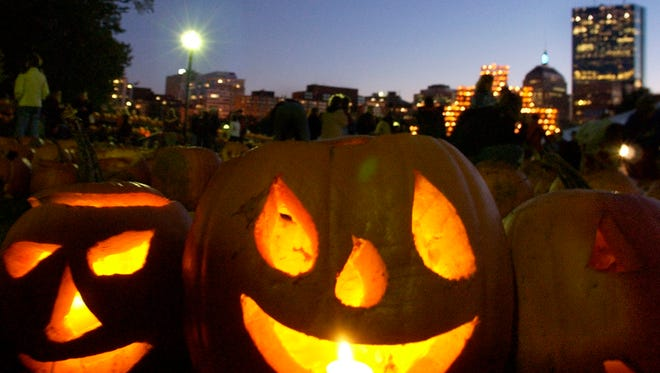 Halloween is right around the corner and Boston, shown here, ranks second for trick-or-treating success.