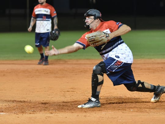 Pitcher Chris Cabrera kept batters on their toes during the battle between The Louisville Slugger Warriors and Team Florida.