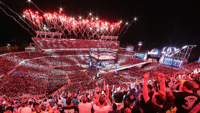 A Citrus Bowl-record crowd turned out Sunday for the six-plus-hour show that was WrestleMania 33.