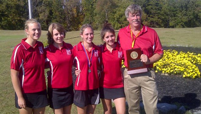 Courtney Simpkins and the Hendersonville girls golf team won three consecutive 1-A/2-A Western Regional championships, including this one in 2012.