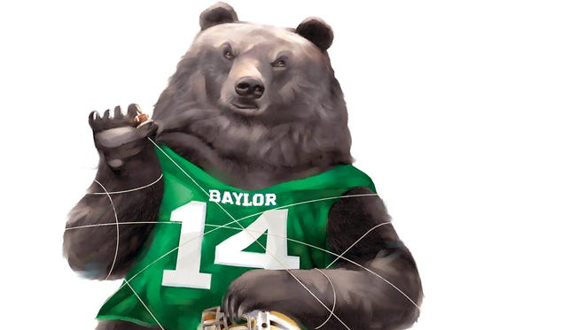 Cyclones try to corral the Baylor Bear.