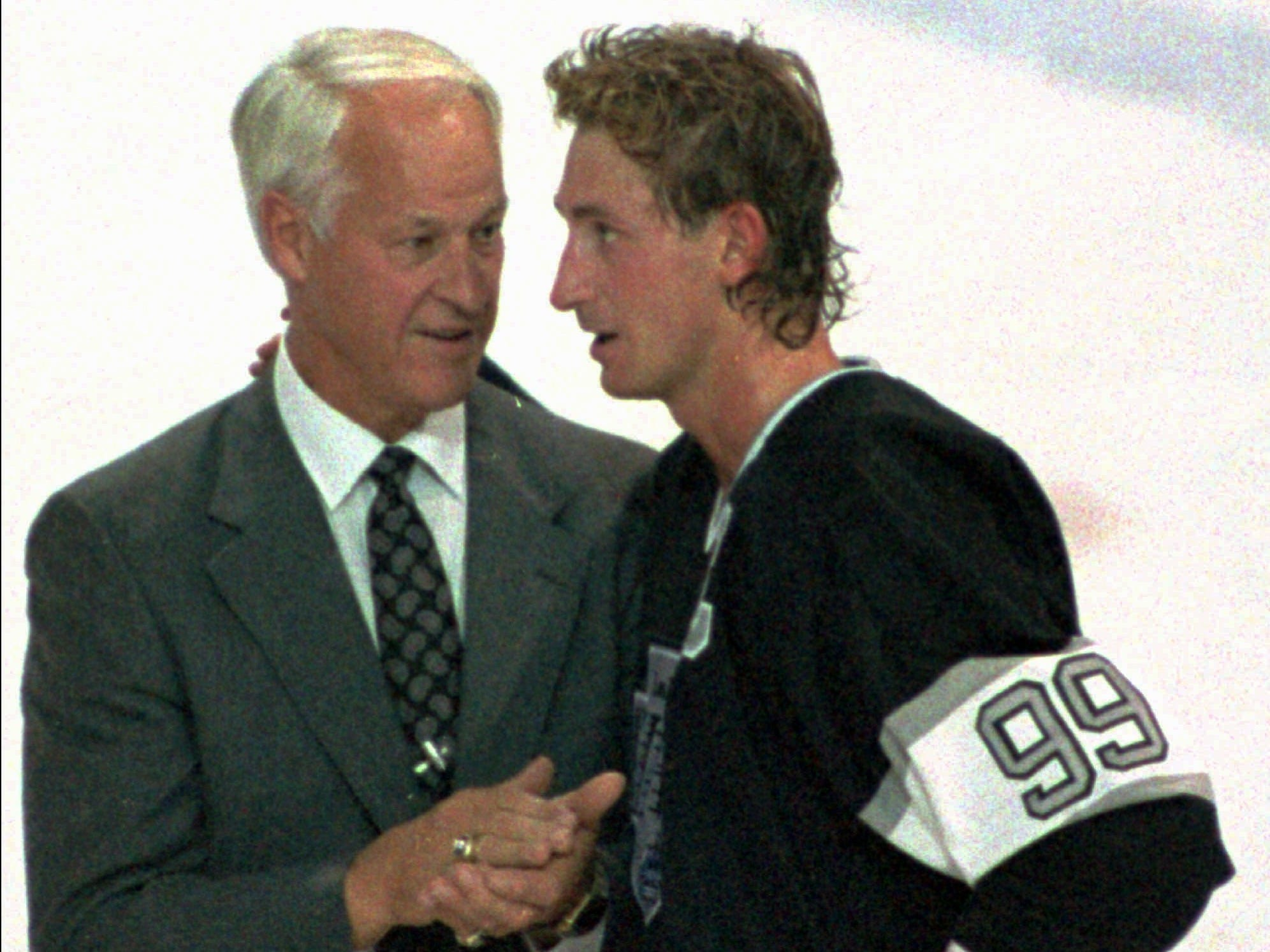 On Oct. 15, 1989, Wayne Gretzky broke Gordie Howe's points record during a game in Edmonton.