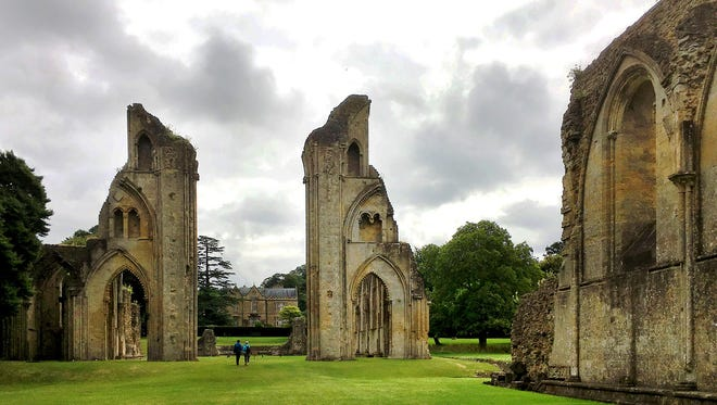 The evocative ruins of Glastonbury Abbey, the first Christian sanctuary in the British Isles, stand mysteriously alive in a lush 36-acre park.