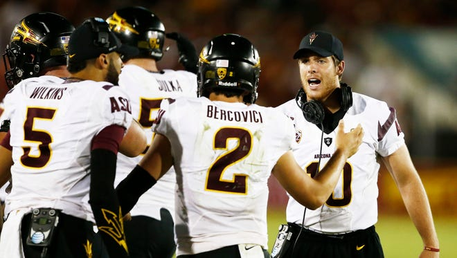 """On Monday, we asked readers on Facebook: """"Who should start for ASU at QB vs. Washington, assuming that Taylor Kelly is healthy enough to go?"""""""
