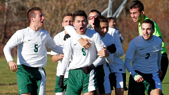 Solomon Schechter celebrates their 2-1 victory in the