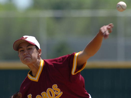 Rocky Mountain pitcher Marco Gonzales fires a pitch during the 5A state championship game with Wheatridge in Denver Saturday May 19, 2007. Rocky won the game 12-2.