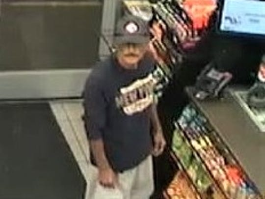 This man is a suspect in three robberies of the Circle K at 7001 North Loop Drive.