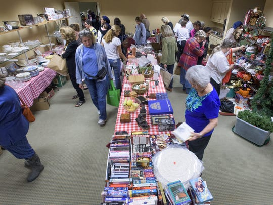 Patrons browse at the Bazaar at St. John's Episcopal Church in Montgomery.