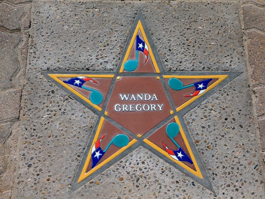 Wanda Gregory's star was installed Thursday, May 31, 2017, at the South Texas Music Walk of Fame in Corpus Christi. The six 2017 inductees will be honored Saturday.