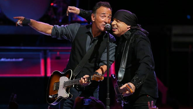 """Bruce Springsteen and Stevie Van Zandt brought their show to fans in Perth, Australia. on Feb. 5. Springsteen has launched a tour in support if his new album """"High Hopes."""""""