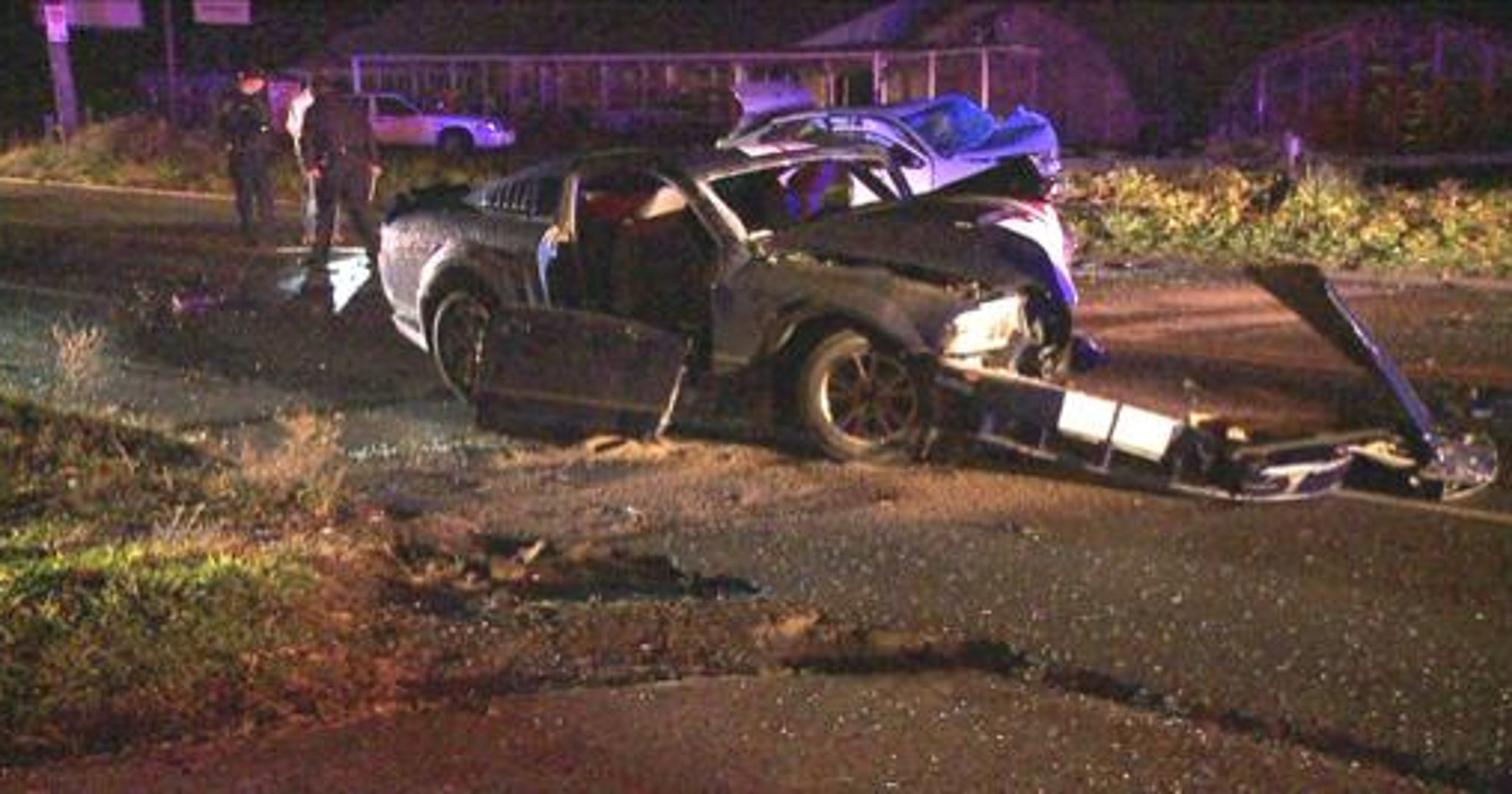 2 critically hurt in Meridian Street wreck