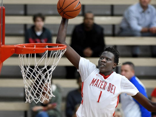Bol Bol, a 7-foot-3 Oregon signee, transferred from Santa Ana (Calif.) Mater Dei in November and won't be playing in this week's City of Palms Classic.