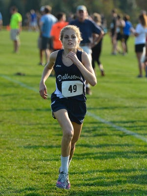 Dallastown junior Emily Schuler, seen here in a file photo, was first in the girls' 3-A run at the 23rd annual Ben Bloser Bulldog Cross Country Invitational at Big Spring High School on Saturday. DISPATCH FILE PHOTO