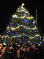 This file photo shows Rehoboth Beach's annual Christmas tree lighting in 2014.