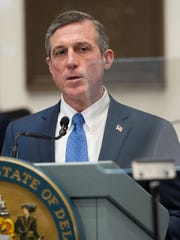 Gov. John Carney gives his State of the State Address in the House chambers in January.