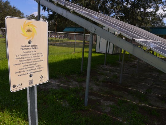 Four Brevard County schools received solar power systems