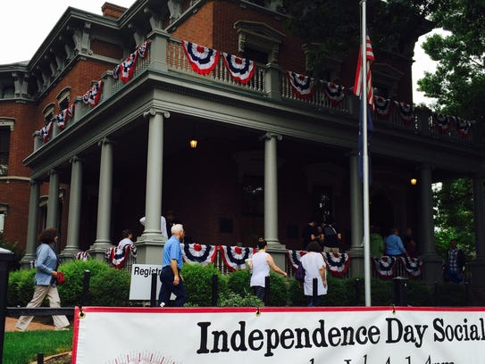 The community gathers at the Benjamin Harrison Presidential