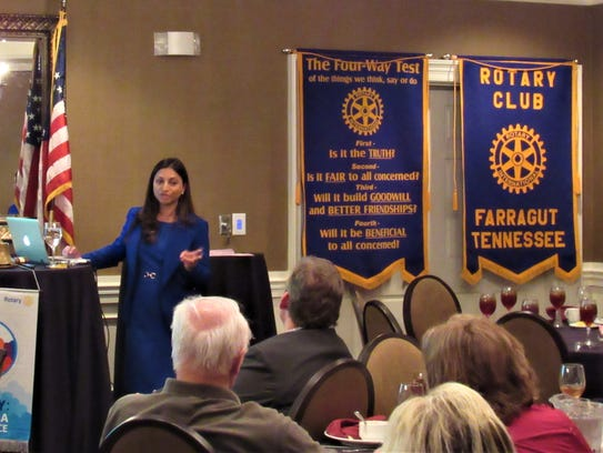 Speaking at the Farragut Rotary Club, Dr. Borole described