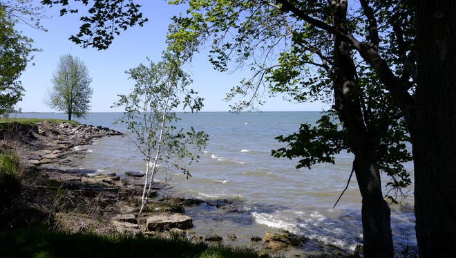 A view out to Lake Huron near Port Hope.