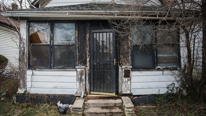 A house at 704 E. Kirby Ave. where Robert Nelson was killed in 1996.