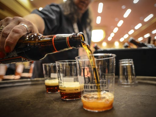 Beers poured at the Great American Beer Festival in Denver in October ...