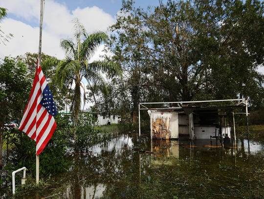 Damage left in Florida by Hurricane Irma.