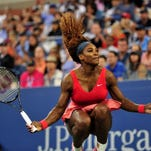 Serena Williams of the US celebrates her win over Victoria Azarenka of Belarus during their 2013 US Open women's singles final match at the USTA Billie Jean King National Tennis Center September 8, 2013 in New York.