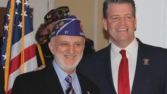 Yorktown resident Eugene Lang and state Sen. Terrence Murphy