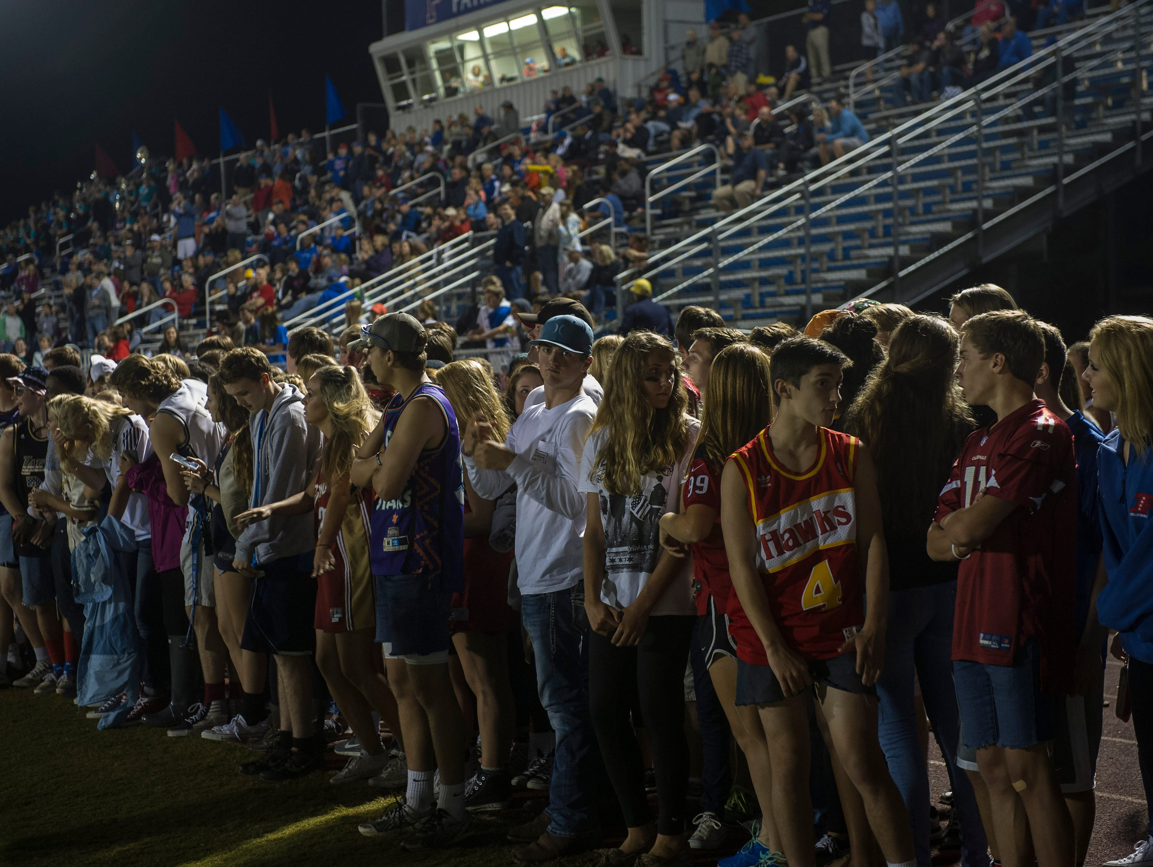 Page fans are stunned as BGA beats Page 28-27 in overtime at Page High School on Friday Sept. 25, 2015, in Franklin in Tenn.