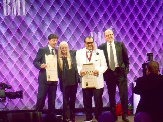 Timmy Thomas receives an award at the BMI ceremony
