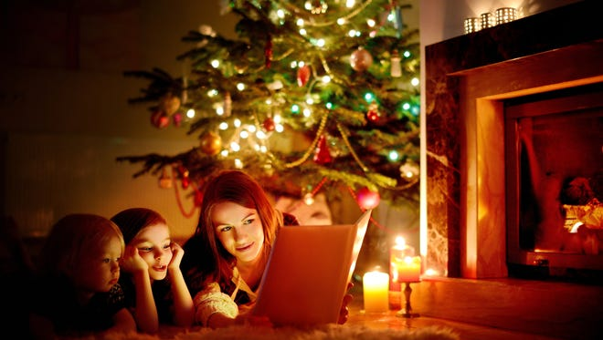 Reading a Christmas classic story is a great way to involve the family in a tradition.