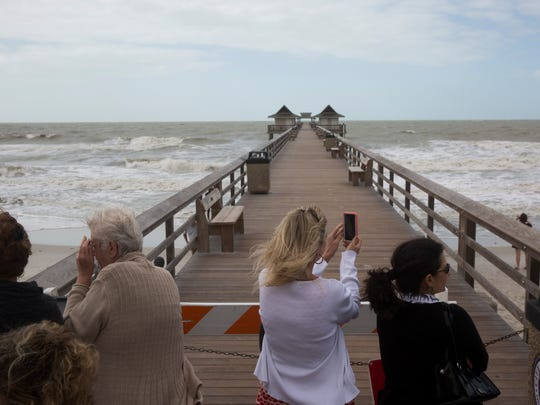 Due to steady winds and high waves, city officials closed the Naples Pier for safety reasons Monday, Jan. 23, 2017.