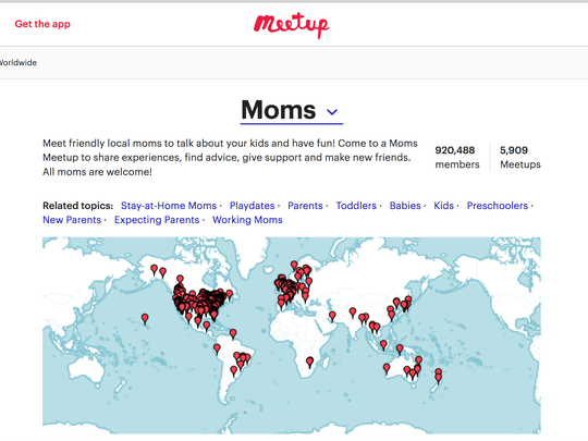 Meetup is another popular source for mom's groups.
