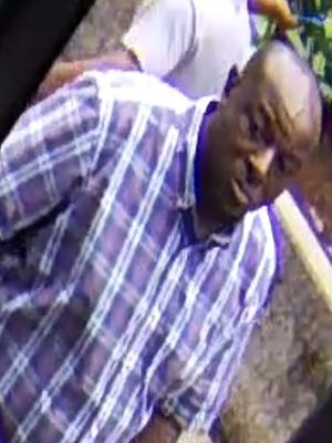 Pictured is a man whom authorities say is wanted in a bank robbery in downtown Knoxville on Thursday, June 28, 2018.