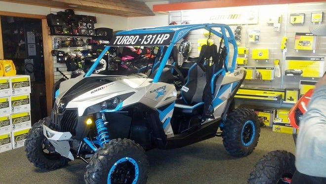 This 2016 Can-Am UTV (Utility Task Vehicle) Maverick was stolen around 12:30 a.m. Saturday from Paulsen's Power Sports at the intersection of 57th Street and 2nd Avenue North. Police are seeking information to aid in recovering the vehicle valued at more than $20,000.