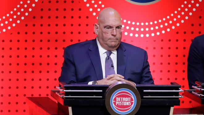 Pistons general manager Jeff Bower during the NBA draft lottery in 2017.