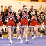 Chenango Valley junior varsity compete Sunday at the STAC Cheerleading Championships at Union-Endicott High School.