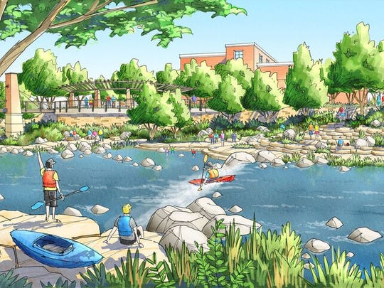 A whitewater park will be built in downtown Fort Collins, east of College Avenue to the BNSF Railroad.