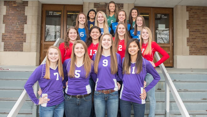 The 2015 Battle Creek Enquirer All-City Volleyball Team, as voted on by the city's five varsity coaches.